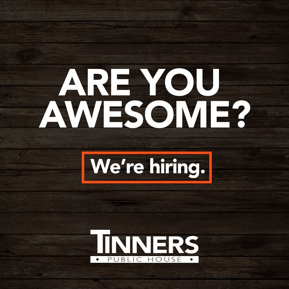 Tinners Hiring Graphic